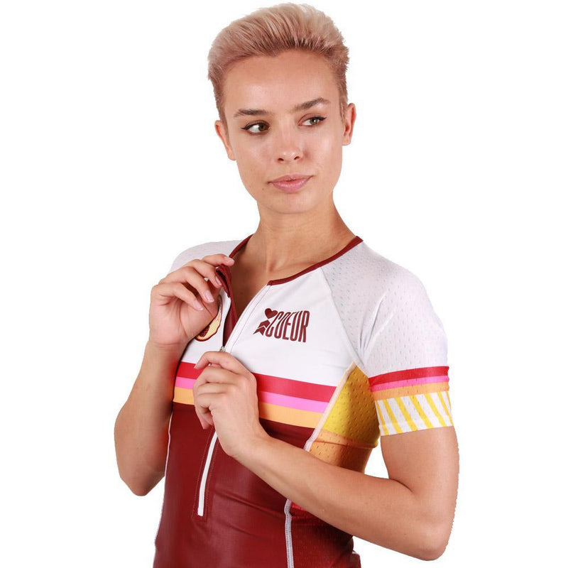 Coeur Sports Sleeved Triathlon Speed Jersey Kona 19 Women's Sleeved Triathlon Aero Top