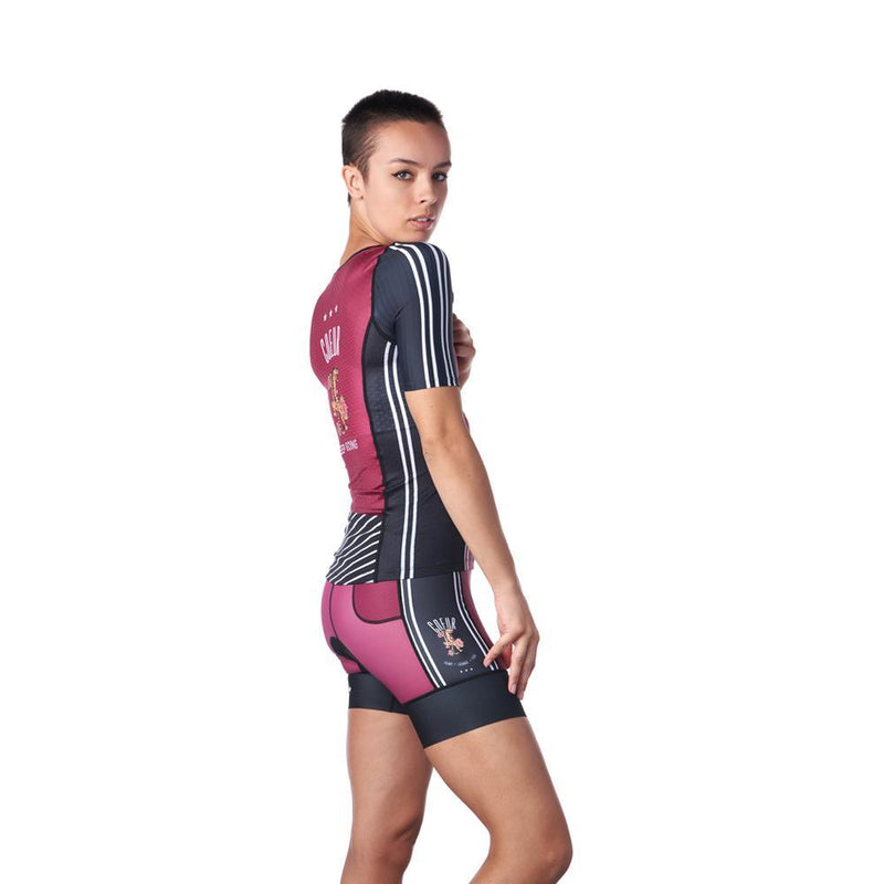 Side view of women's triathlon outfit