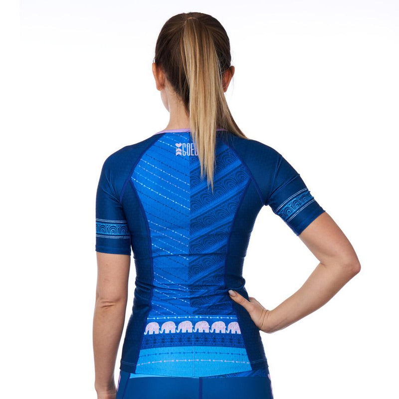 Coeur Sports Sleeved Triathlon Speed Jersey Tusk Women's Sleeved Triathlon Aero Top