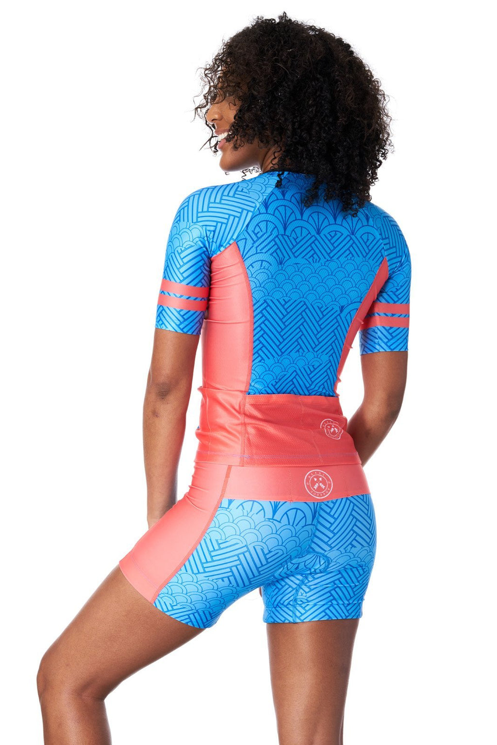 Coeur Sports Sleeved Triathlon Speed Jersey Women's Sleeved Triathlon Aero Top in Serenity
