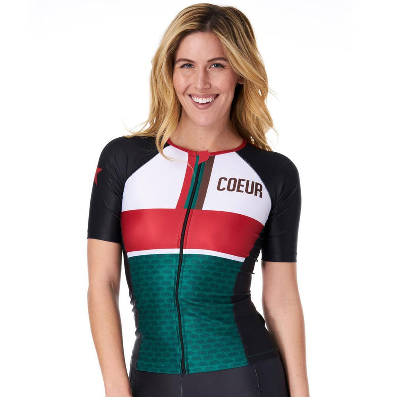 Coeur Sports Sleeved Triathlon Speed Jersey x-small MPG Women's Sleeved Triathlon Aero Top