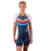 Coeur Sports Sleeved Triathlon Speedsuit Liberty Women's Sleeved One Piece Triathlon Suit