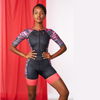 Coeur Sports Sleeved Triathlon Speedsuit Mari Women's Sleeved One Piece Triathlon Suit