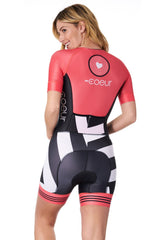 Coeur Sports Sleeved Triathlon Speedsuit Women's Sleeved One Piece Triathlon Suit in Courage 2018
