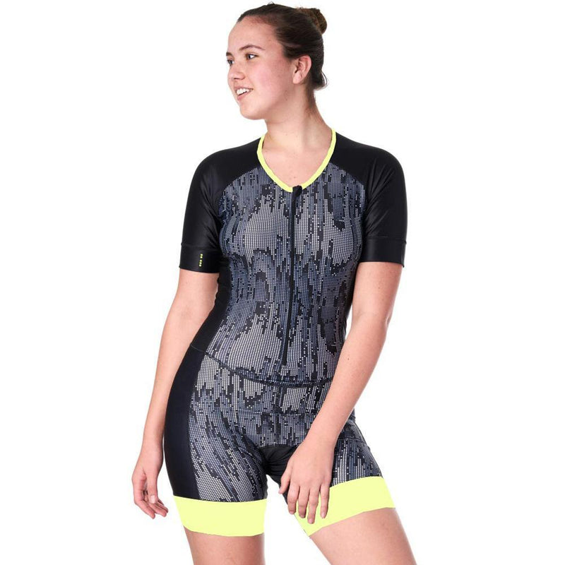 Triathlon Speedsuit with sleeves Matrix Design
