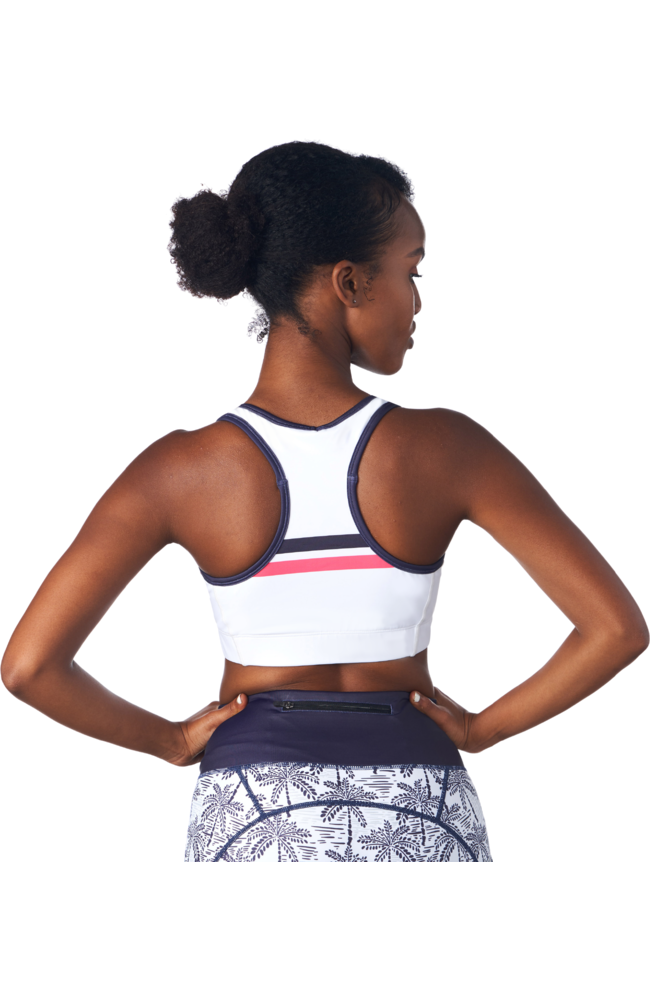 Coeur Sports Sports Bra Palm Print Pocket Sports Bra