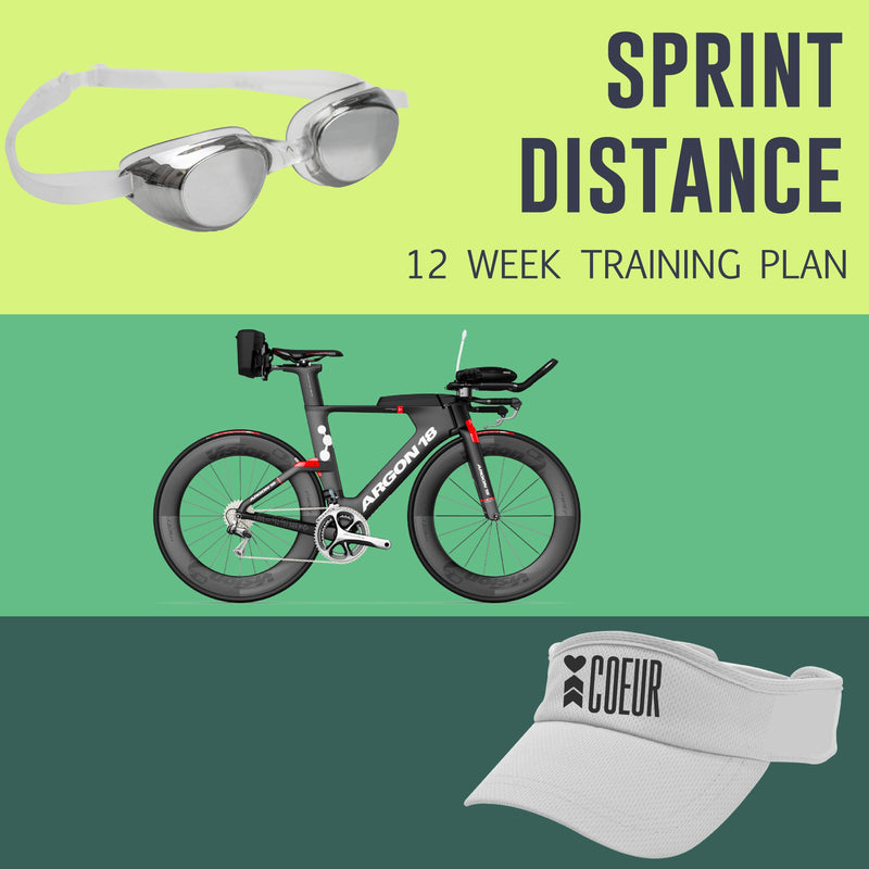 Coeur Sports Sprint Distance Triathlon Training Plan: Women's 12 Week