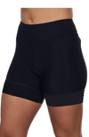 "Coeur Sports Tri Short small w/ solid black gripper / Black Little Black 5"" Triathlon Shorts - 6cm Gripper"