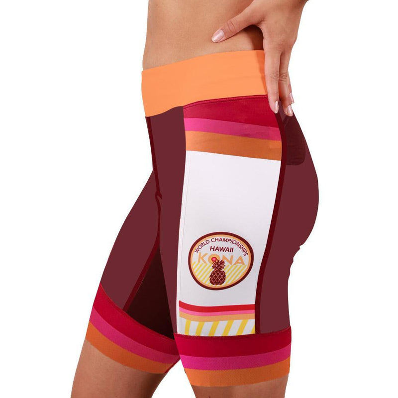 Coeur Sports Tri Shorts Kona 19 Women's 8 Inch Triathlon Shorts
