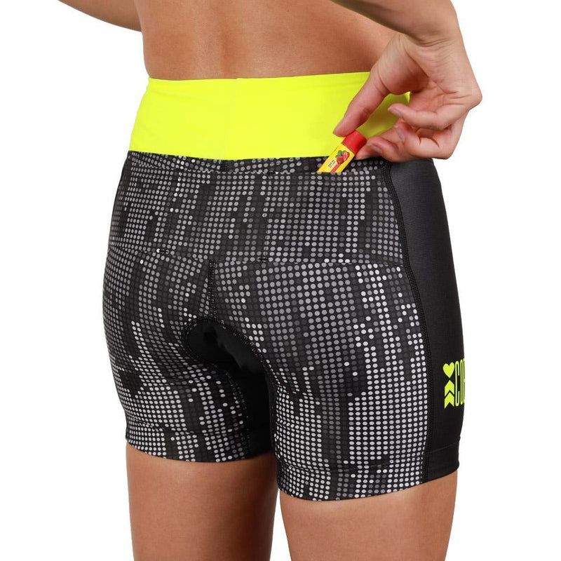 Coeur Sports Tri Shorts Matrix Women's 5 inch Triathlon Shorts