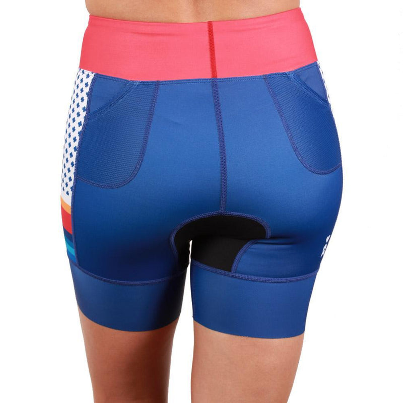 Coeur Sports Tri Shorts PRESALE! Liberty Women's 5 inch Triathlon Shorts - Ships 9/2