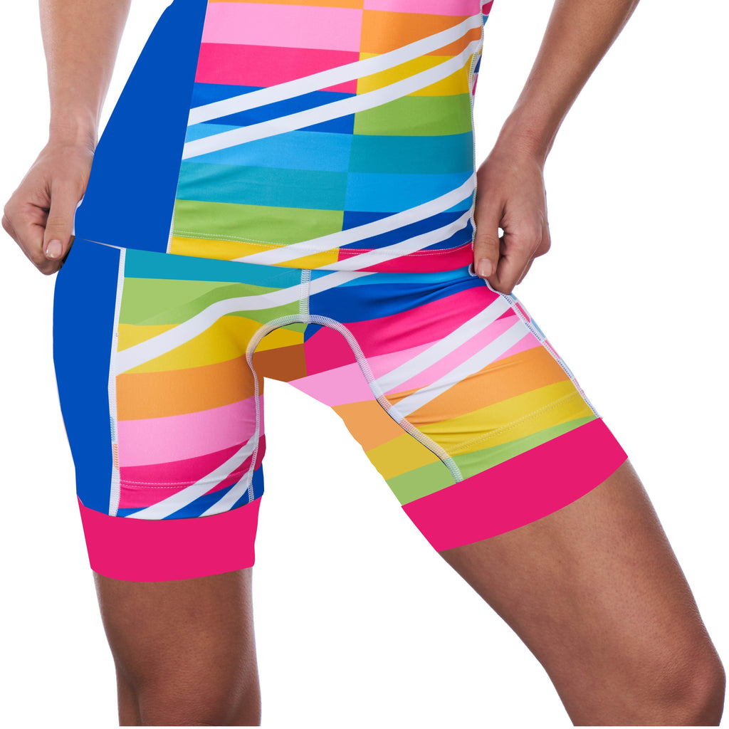 Coeur Sports Tri Shorts Sorbet Women's 8 inch Triathlon Shorts