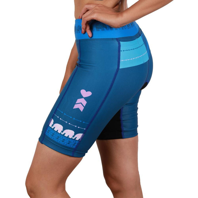 Coeur Sports Tri Shorts Tusk Women's 8 inch Triathlon Shorts