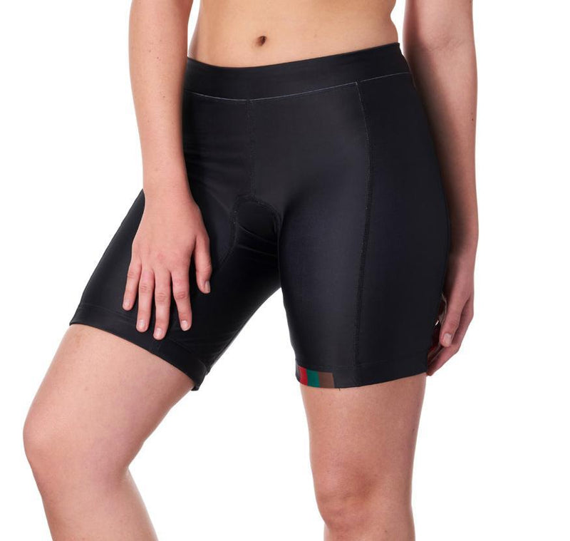 "Coeur Sports Tri Shorts Women's 8"" Triathlon Shorts in MPG Design"