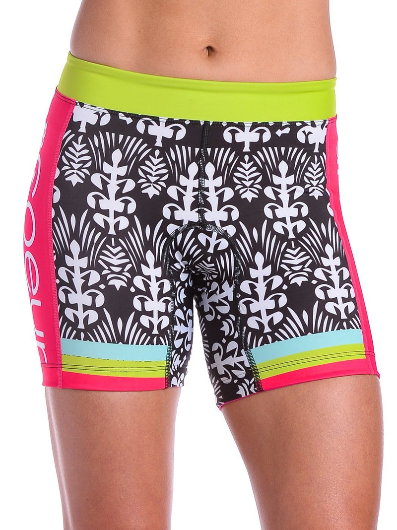 "Coeur Sports Tri Shorts x-large / Pink Tropical Punch Women's 5"" Triathlon Shorts"