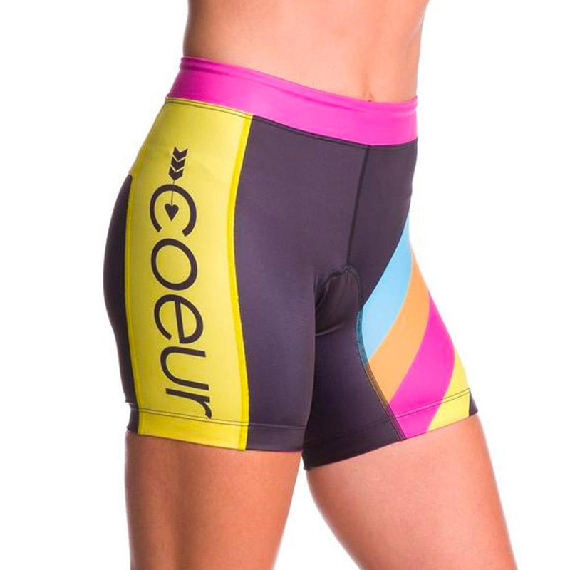 "Coeur Sports Tri Shorts x-small / Island Vibe Women's 5"" Triathlon Shorts in Island Vibe"