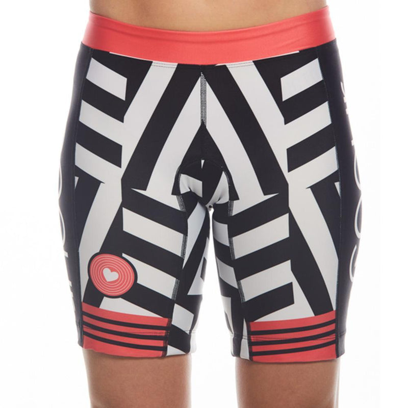 Coeur Sports Tri Shorts XS / Red Women's 8 inch Triathlon Shorts in Courage 18