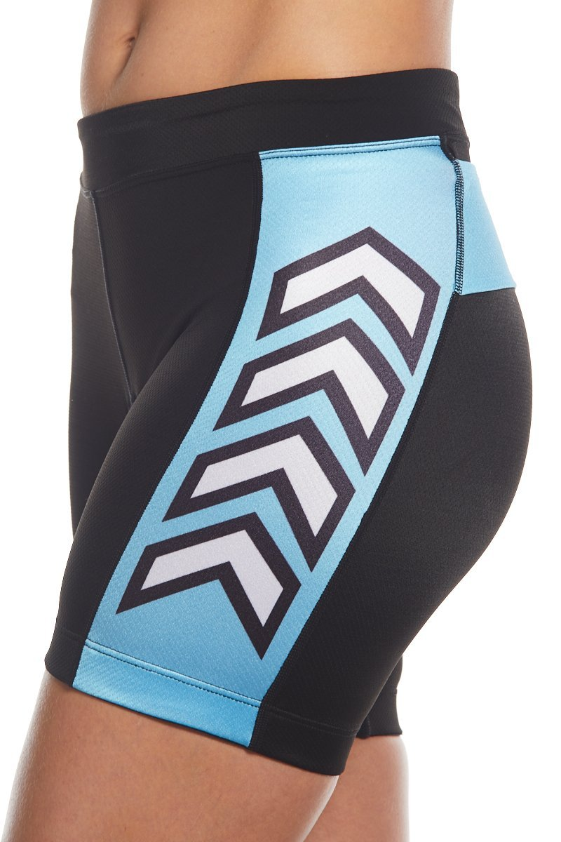 "Coeur Sports Tri Shorts Zele 5"" Women's Aero Triathlon Shorts - Speed Racer Blue"