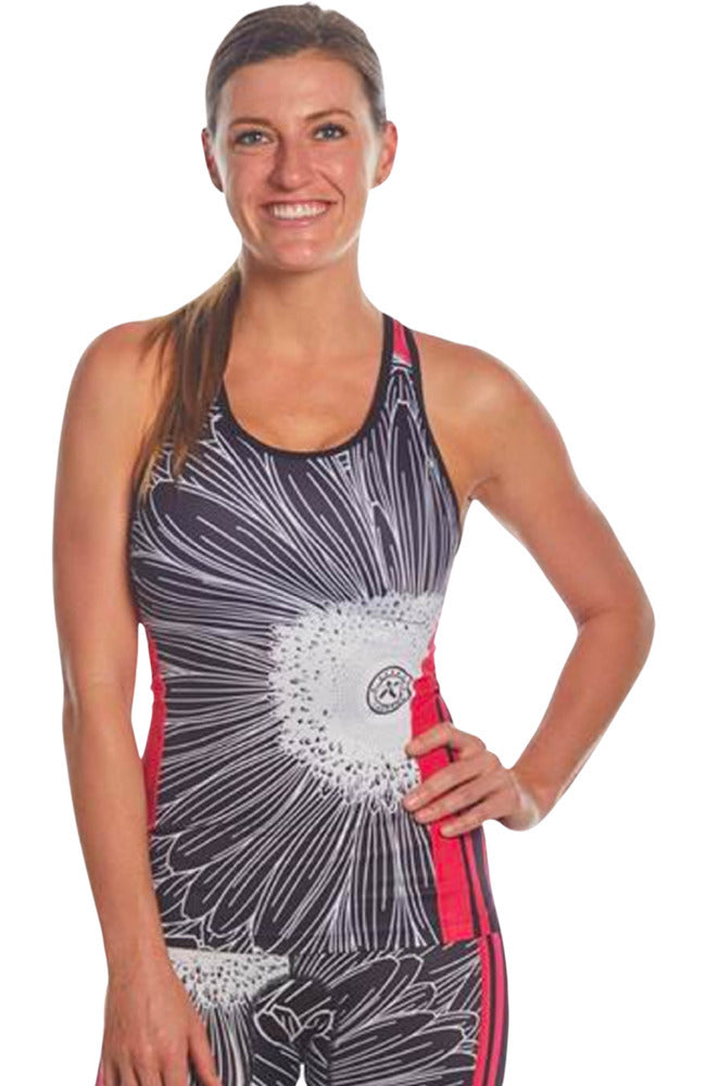 Coeur Sports Triathlon Tank Top Electric Daisy Women's Triathlon Top