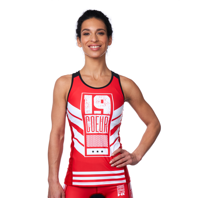 Coeur Sports Triathlon Tank Top LG Team 19 Women's Triathlon Top