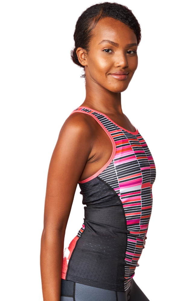Coeur Sports Triathlon Tank Top Mari Women's Triathlon Tank with Shelf Bra