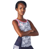 Triathlon Tank Top without a shelf bra in a design called Palm Print