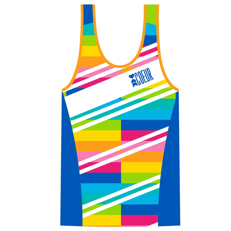 Coeur Sports Triathlon Tank Top PRESALE! Sorbet Women's Braless Triathlon Tank