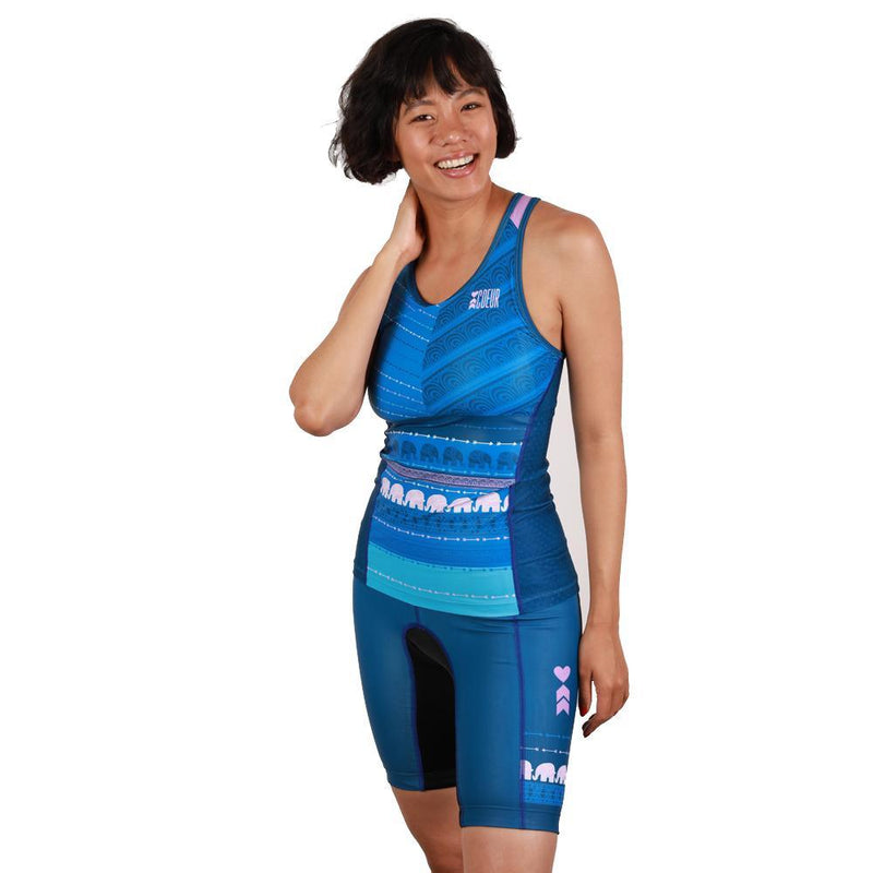 Coeur Sports Triathlon Tank Top Tusk Women's Braless Triathlon Tank