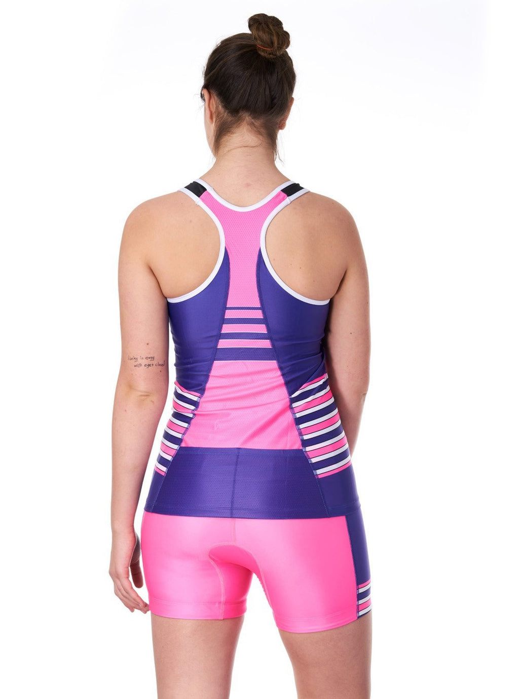 Coeur Sports Triathlon Tank Top Women's Braless Triathlon Top in Pop Tart