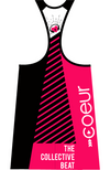 Coeur Sports Triathlon Tank Top Women's Triathlon Tank with Shelf Bra - Collective Beat 18 Design