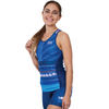 Coeur Sports Triathlon Tank Top XS / Blue Tusk Women's Braless Triathlon Tank