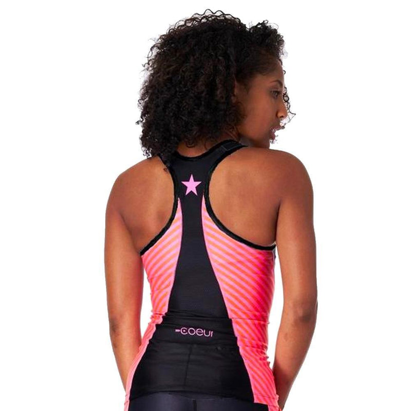 Coeur Sports Triathlon Tank Top XS / Lucky Star Design Women's Braless Triathlon Top in Lucky Star Design