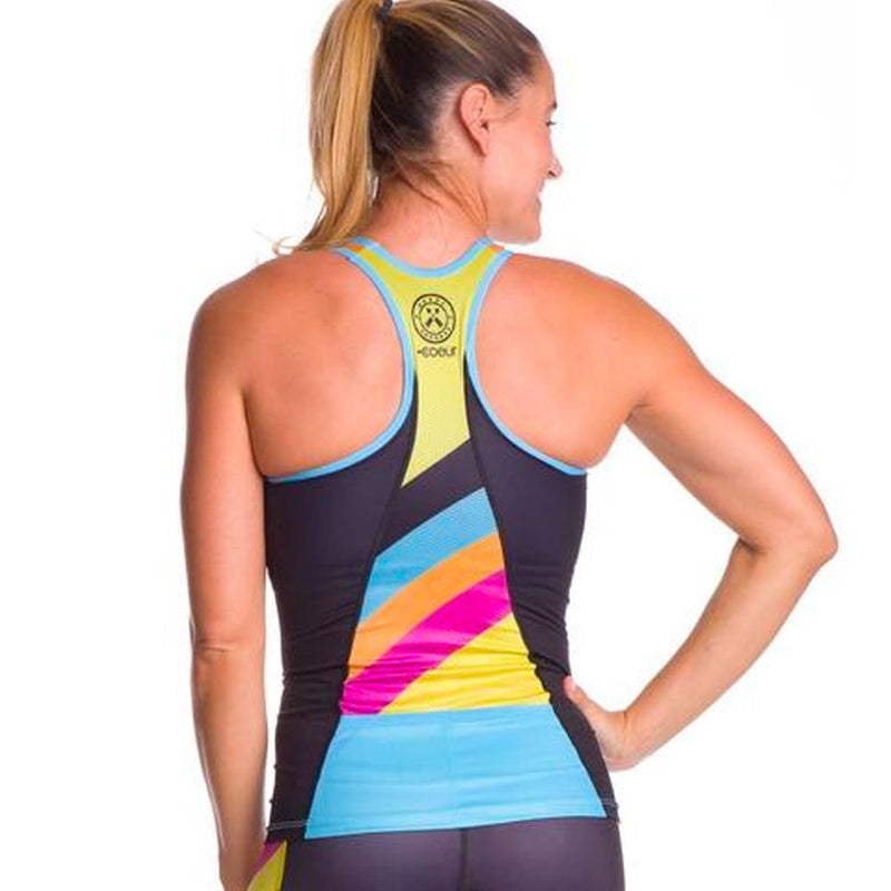 Coeur Sports Triathlon Tank Top XS / Multi Color Women's Braless Triathlon Top in Island Vibe Design
