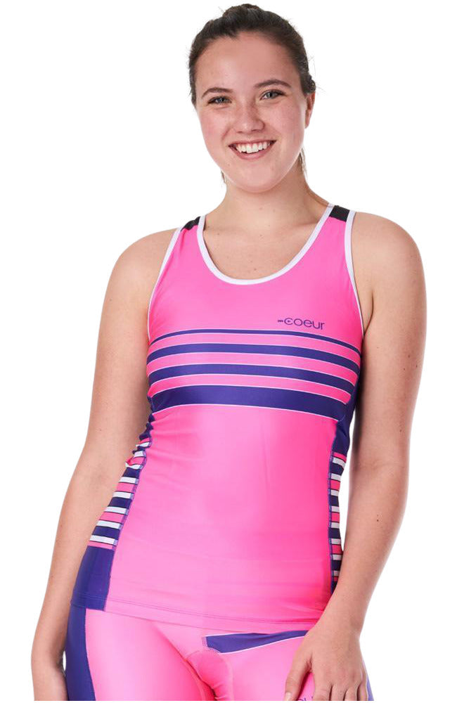 Coeur Sports Triathlon Tank Top XS / Pop Tart Women's Braless Triathlon Top in Pop Tart