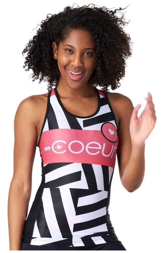 Coeur Sports Triathlon Tank Top XS / Red Zig Zag Women's Triathlon Top