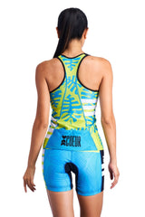 Coeur Triathlon Tank Top Flora Women's Braless Triathlon Tank