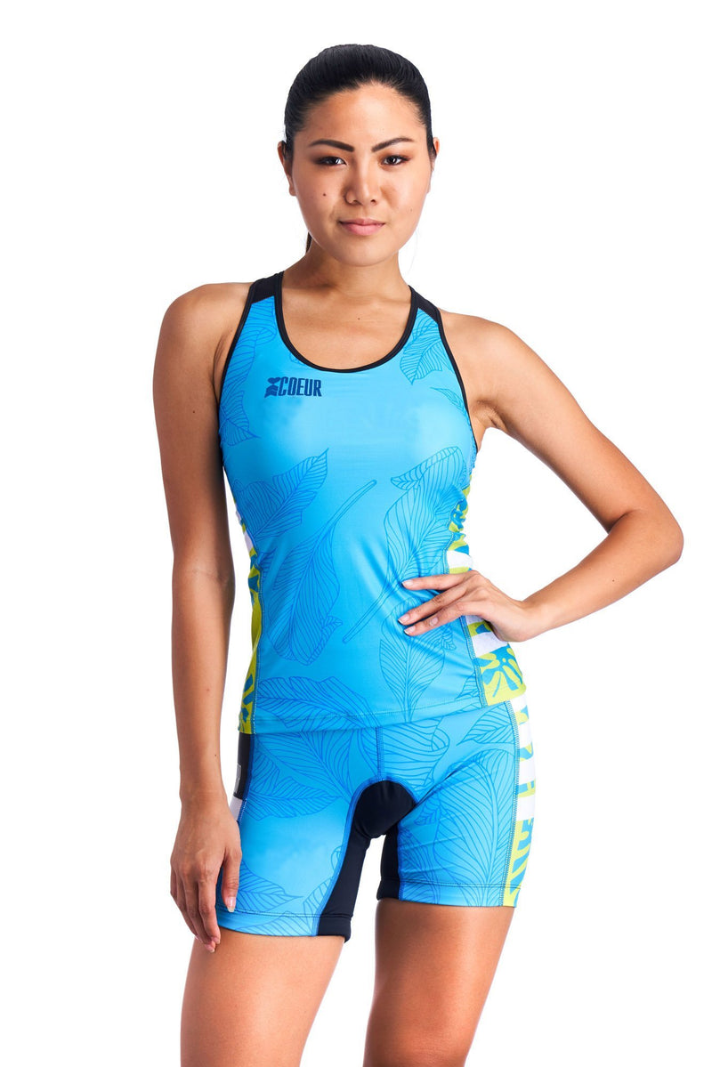 Coeur Triathlon Tank Top Flora Women's Triathlon Tank