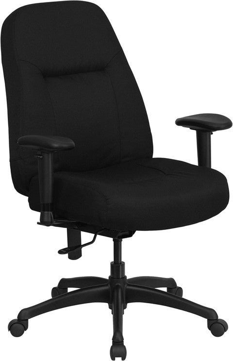 Capacity High Back Big U0026 Tall Black Fabric Executive Swivel Office ...
