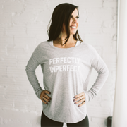 'PERFECTLY IMPERFECT' Cami Long Sleeve Tee