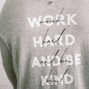 'WORK HARD & BE KIND' Cami Long Sleeve Tee