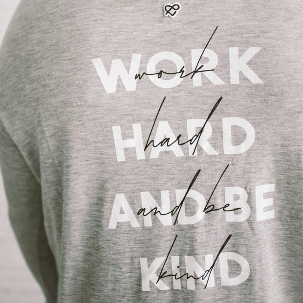 'WORK HARD & BE KIND' Cami LS Tee