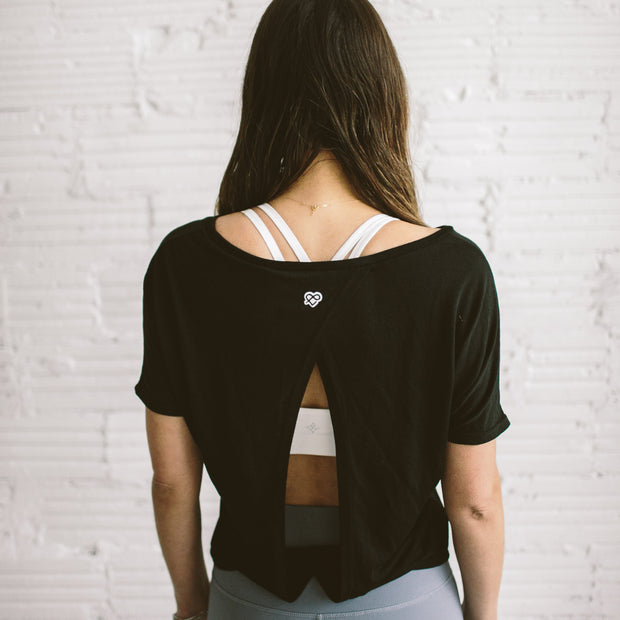 'PERFECTLY IMPERFECT' Emma Open Back Tee