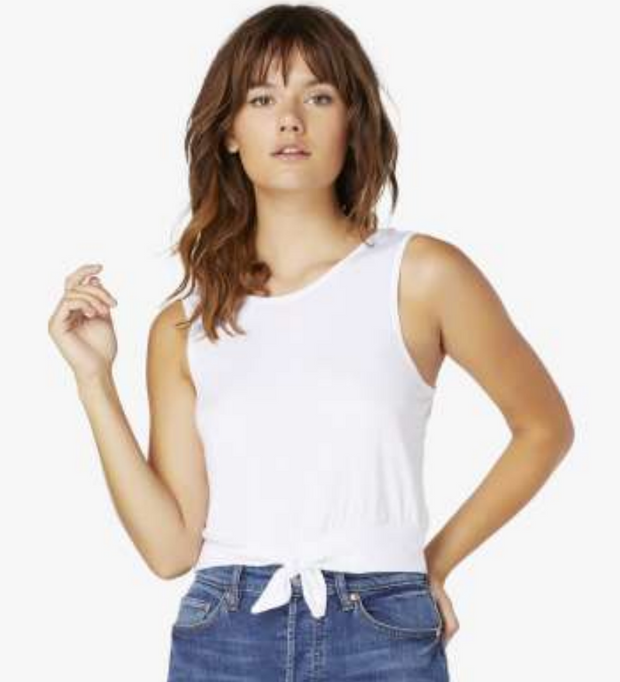 KNOT A PROBLEM CROPPED TANK - WHITE