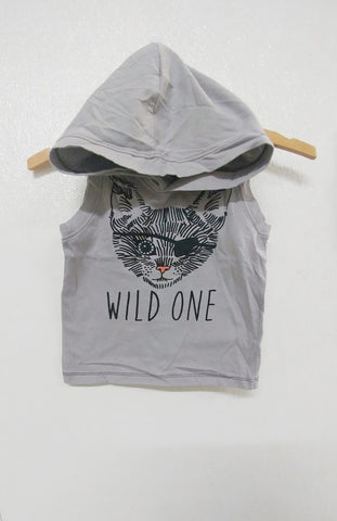 Wild One Pirate Sleeveless Hoodie
