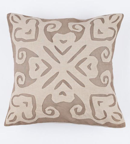 Light Brown 16x16 Applique Pillow Cover