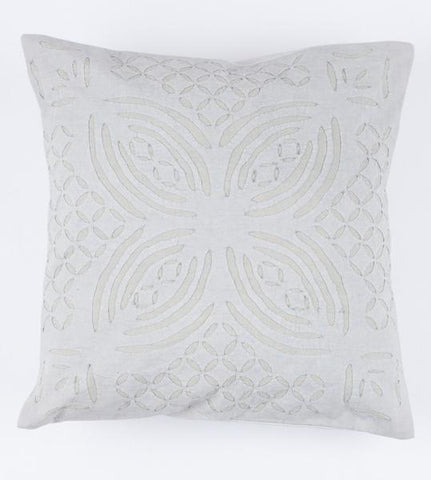 Light Gray 16x16 Applique Pillow Cover