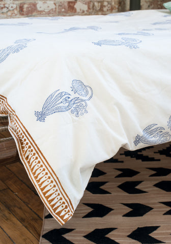Blue Bell Flower Duvet Set
