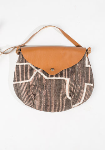 Dhurrie Purse - Gray/Cream/Light Pink