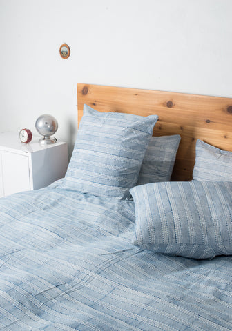 Blue Ladder Duvet Set