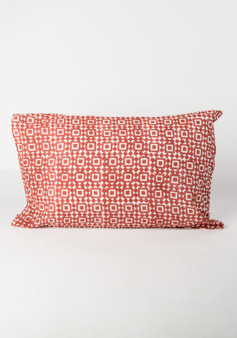 Red Mosaic Pillow